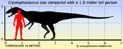 Cryolophosaurus-size