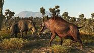 Entelodons oligocene eurasia by prehistoricart-dbhk1sf