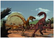 Scene Staurikosaurus Unaysaurus