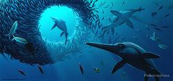 Ichthyosaurus water