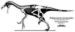 Beipiaosaurus skeletal Headden