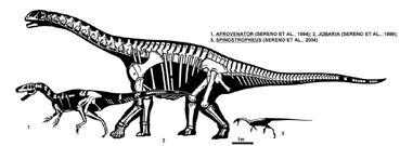 Afrovenator jobaria e spinostropheus