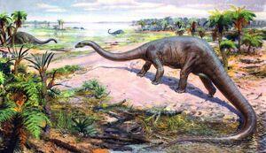 Diplodocus by zdenek burian 1942