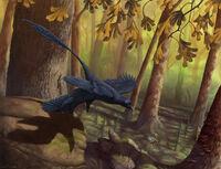 Microraptor takeoff by ewilloughby-d5orad2