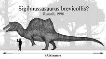 The fisher king sigilmassasaurus brevicollis by paleonerd01 dcovjkg-pre