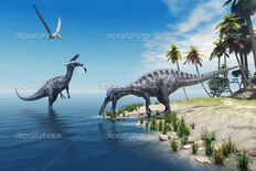 Depositphotos 29657901-Schomimus-dinosaurs