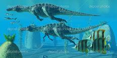 Depositphotos 29658023-Suchomimus-dive