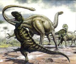 Shunosaurus vs sinraptor