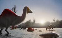 Speed paint deinocheirus morning bath by fredthedinosaurman-d8490c4