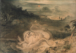 1837-John Martin - The country of the Iguanodon