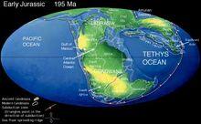 Early Jurassic palaeogeography