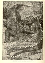 Megalosaurus and iguanodon, Buel 1887