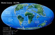 Средний эоцен карта
