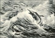 Tylosaurus painting for the American Museum, (Charles Knight, 1899)