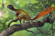 Epidexipteryx hui vs nephila jurassica by atrox1-d6zx5lu