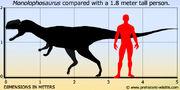 Monolophosaurus-size