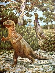 Iguanodons by Gerhard Heilmann, 1928
