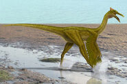 Pelecanimimus feathered by paleopeter-d997tb9