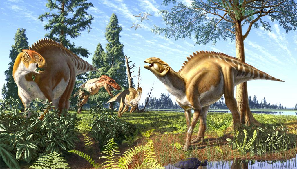 Динозавры в меловом периоде картинки