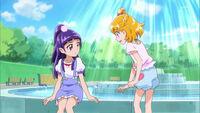Mirai goes to talk to Riko