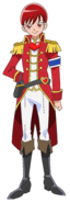 Perfil de Akira disfrazada de príncipe