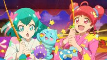 STPC25 Lala and Hikaru fishing for the balloon