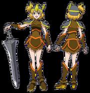 Perfiles de Buki como guerrera