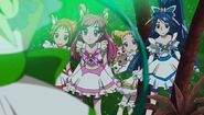Precure inside the Mint Shield