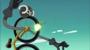 Sunshine enfrentando al desertrian bicicleta