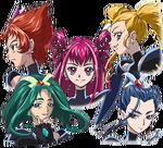 Toei - Movie 1 - Dark Pretty Cure 5 heads