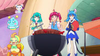 STPC28 Lala, Hikaru, Yuni, Prunce and Yanyan amazed by Flare's power