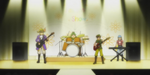 The band playing music