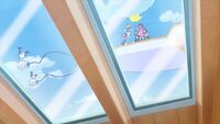 STPC44 Santa Alien and Hikaru high five