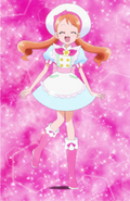 Ichika con uniforme de pastelera