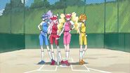 Precure in baseball clothes