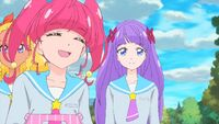 STPC41 Hikaru is happy that Madoka has more time to socialize