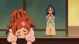 Pafu and Yui encouraging Haruka