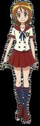 Perfil de Yuko con su uniforme escolar de verano