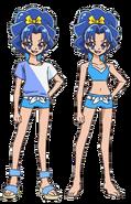 Perfiles de Aoi con traje de baño