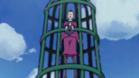 Zama-sensei trapped within the cage