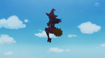 Kana sees Riko on the broom