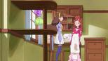 Kirara giving Haruka a hand