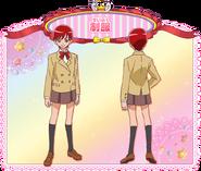 Perfiles de Akira con su uniforme escolar (Toei Animation)