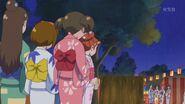 Las otras Cures obserbando a Haruka
