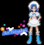 Perfil de Aoi como pastelera (TV Asahi)