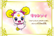 Cartel de Candy en Pretty Cure All Stars New Stage 3