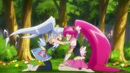 Princess haciendo entrar en razon a Lovely