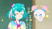 STPC13 Lala and Fuwa smile at each other