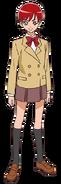 Perfil de Akira con su uniforme escolar