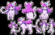 Perfiles de Yukari como gata